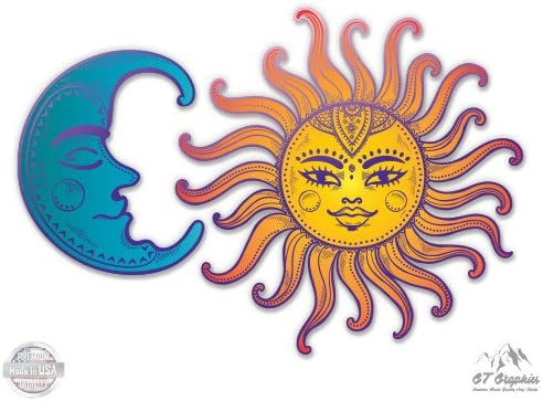 Vinyl Sticker Waterproof Decal Sun