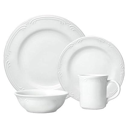 Amazon.com | Pfaltzgraff Filigree 16-Piece Dinnerware Set. Service ...