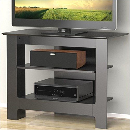 Nexera Pinnacle 31-inch Tall Boy TV Stand 100206 from, Black