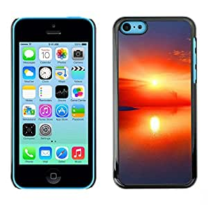 "For Apple iPhone 5C , S-type Sunset Beautiful Nature 97"" - Arte & diseño plástico duro Fundas Cover Cubre Hard Case Cover"