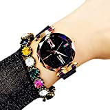 Idomeo Women Wrist Quartz Watch Stars Pattern Digital Fashion Magnet Watch Wrist Watches