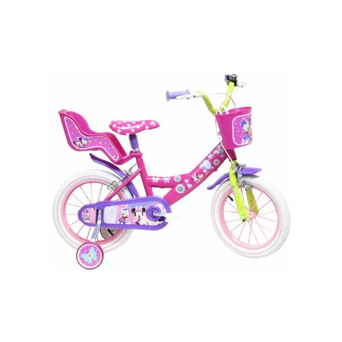 Disney – Bicicleta con ruedines y Asiento para muñecas
