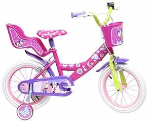 Disney Bicicleta con ruedines y asiento para muñecas