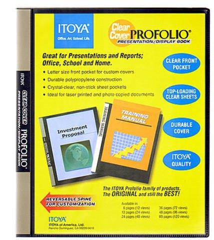 Itoya Clear Cover Portfolio Presentation Books - 24 Pages - 48 Views 2 pcs sku# 1842116MA