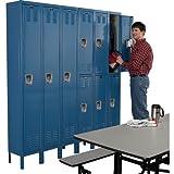 HALLOWELL U3288-2HG Standard-Industrial Storage Cabinets, 5 Shelves, Putty, 46'' x 24'' x 72''