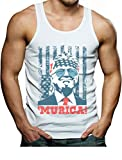Tstars Donald Trump Murica 4th of July Patriotic American Party USA Singlet X-Large White