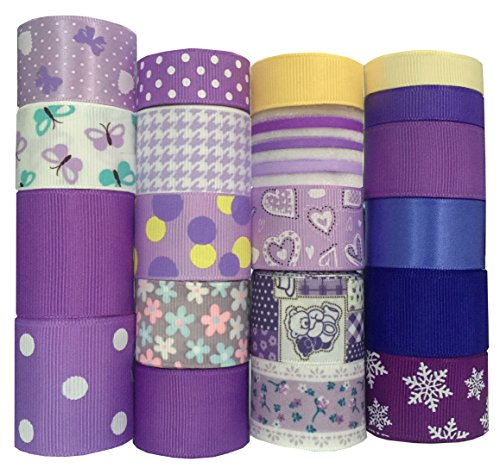 Duoqu Christmas Purple Ribbon 20 Yards (20x1yd) 3/8