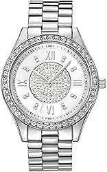 JBW Women's J6303A Analog Display Japanese Quartz Silver Watch
