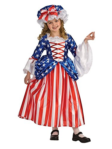 Rubie's Child's Deluxe Betsy Ross Costume, -