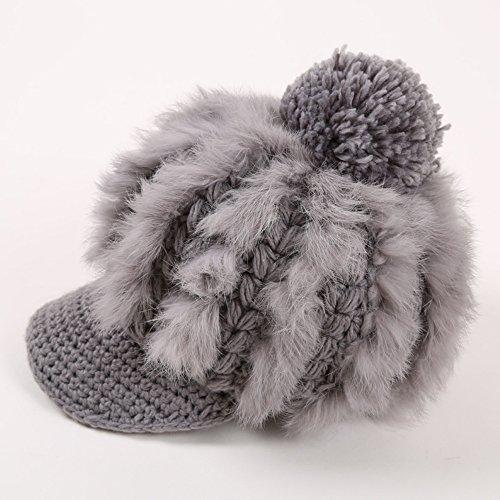 Hat CAICOLOR Casquillo de lana de la lengüeta, señora caliente caliente sombrero lindo ocasional del Knit (Color : 3)