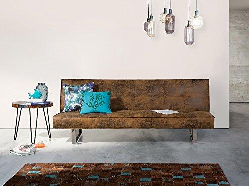 Divano Arancione E Marrone : Divano letto marrone divano in pelle sofa 3 posti divano