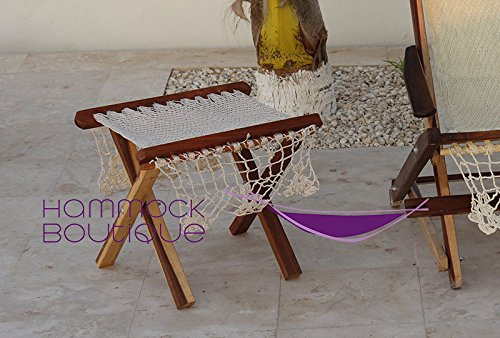 Ottoman woven Mexican Hammock Chair – NYLON Beige Ecru Color