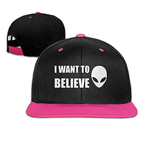 NUBIA I Want To Believe Sunbonnet Brim Hat Adjustable Flat Bill Cap Pink (Of Mice And Men Robert Blake)
