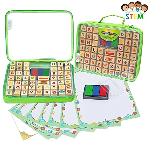 Alphabet Rubber Stamps - 67 Pcs. Set of ABC, Numbers, Emojis