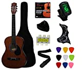 YMC 38' Coffee Beginner Acoustic Guitar Starter Package Student Guitar With Gig Bag,Strap, 3 Thickness 9 Picks,2 Pickguards,Pick Holder, Extra Strings, Electronic Tuner -Coffee