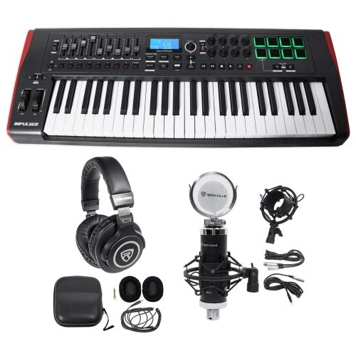 Novation IMPULSE 49-Key Ableton Live MIDI USB Keyboard Controller+Headphones+Mic