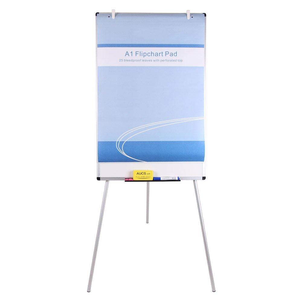 VIZ-PRO Light Magnetic Tripod Whiteboard/Flipchart Easel,24'' W x 48'' L
