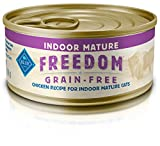 Blue Freedom Mature Pate Indoor Grain Free Chicken Wet Cat Food 5.5-Oz (Pack Of 24)