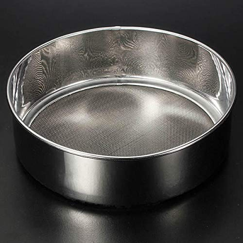 OKIl 15cm 40 Mesh Stainless Steel Flour Sifter Pastry Tools (Silver Sifter)
