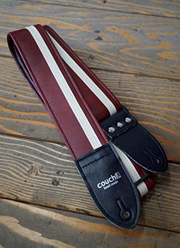 BLACK /& WHITE RACER X GUITAR STRAP Made in USA by Couch Guitar Straps
