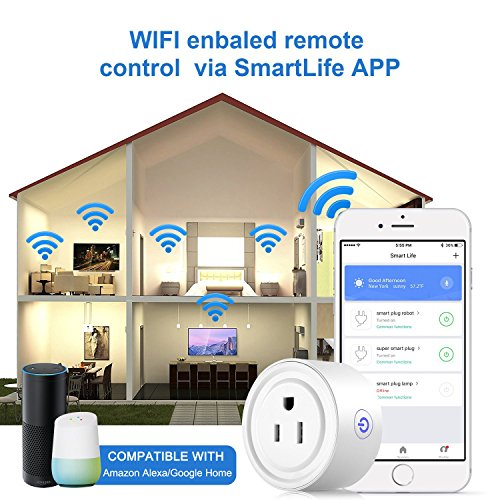 Apromio Round 10A Wi-Fi Enabled Mini Smart Socket Works with Amazon Alexa Google Home Plug by Apromio (Image #1)