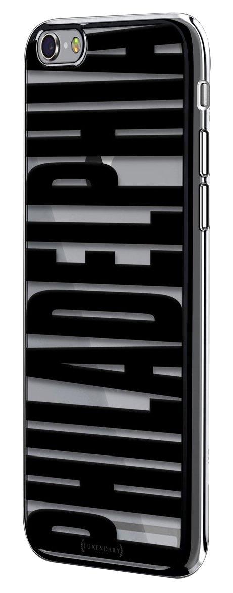 iPhone 6 / 6S Plus用Luxendary Bold Blackフィラデルフィアデザインクロムシリーズケース - チタンブラック   B076G77VNF