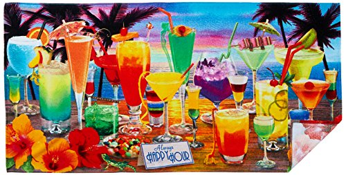 Cocktail Party Drink Happy Hour Beach Towel