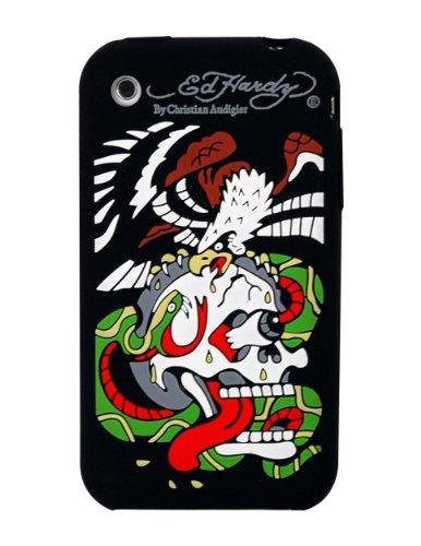 Ed Hardy Silicone Hawk Skin for iPhone 3G - Black