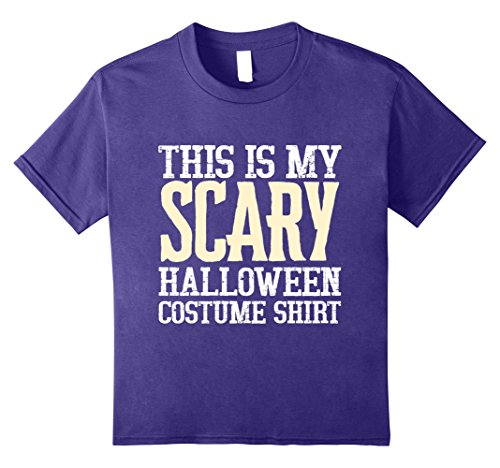 Kids This Is My Scary Halloween Costume Shirt 2017 8 Purple