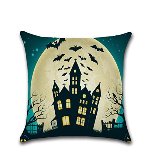 [Sunward 18 x 18inch Halloween Thriller pillow Case Covers Decorations (D)] (Chair Costume Prank)