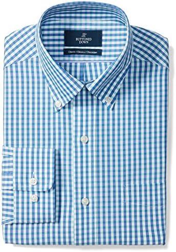 Buttoned Down Camisa de vestir con diseño de cuello botón corte clásico para hombre, no necesita planchado