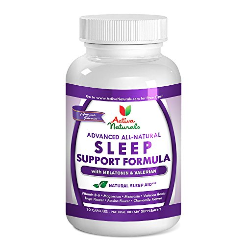 Activa Naturals Sleep Supplement - 90 Veg. Pills with Natural & Pure Sleeping Aid Melatonin & Herbal Dietary Supplements for Better, Deeper & Healthy Rem Support for Men and Women