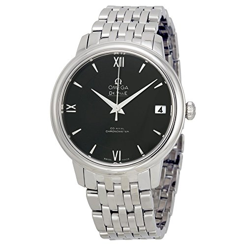 Omega De Ville Prestige Automatic Black Dial Stainless Steel Ladies Watch 42410332001001 by Omega