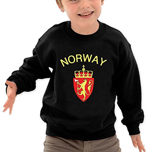 Norway Coat Of Arms O Neck Toddler's Pullover Sweatshirt Long Sleeve T Shirt For Kids (Tape Graphic 1 32 Chart)