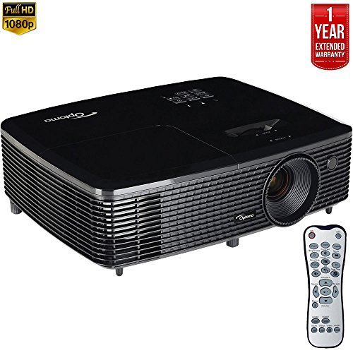 Optoma HD142X Full HD 1080p 3D DLP Home Theater Projector (Certified Refurbished) + 1 Year Extended Warranty