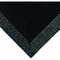 Wearwell Natural Rubber 220 Multi-Guard Heavy Duty Mat, for Outdoor Entrances, 3 Width x 6 Length x 1/2 Thickness, Black by Wearwell Industrial