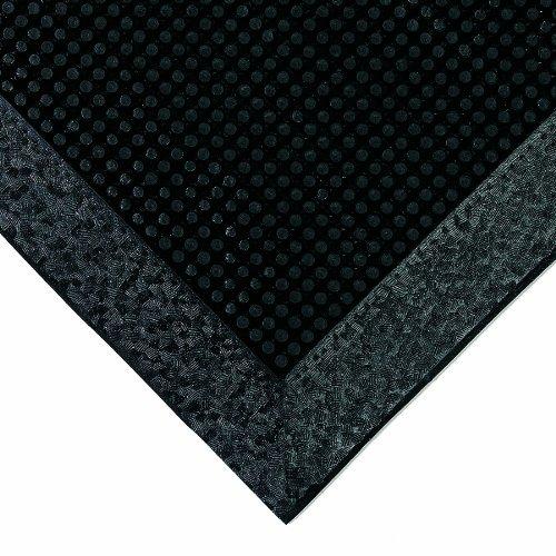 American Floor Mats Pronged Rubber Black 32'' x 39'' x 2-1/2'' Wall Edge Sanitizing Footbath Floor Mat by American Floor Mats