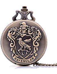 Antique Mens Pocket Watch,Cartoon Pocket Watch, Movie Pocket Watches for Kids, Christmas Birthday Gifts for Boys Girls (Bronze Ravenclaw)