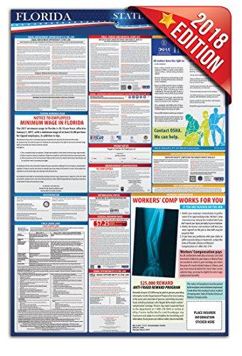2018 Florida Employment Labor Law Poster - State & Federal Compliant - OSHA (Osha Poster)