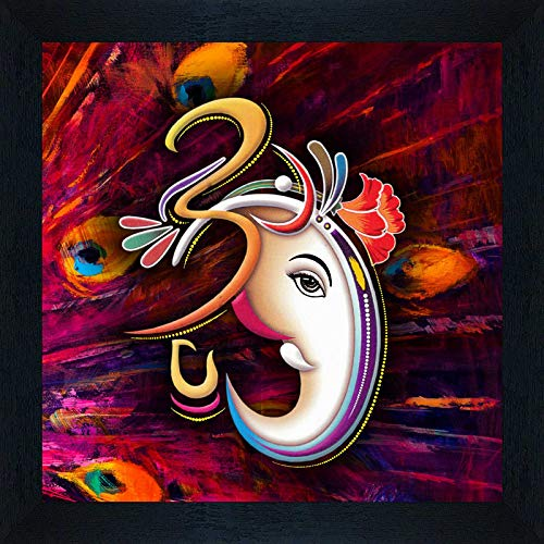 Special Effect Textured Ganesha Painting SAF For Home Decor