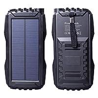 Friengood Solar Charger, Portable 25000m...
