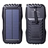 Friengood Solar Charger, Portable 25000mAh Solar Power Bank,...