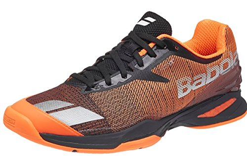 Babolat Men's Jet All Court Tennis Shoe Orange-12 D(M) US-Grey/Black