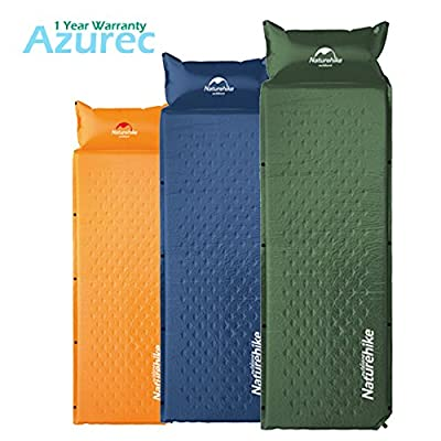 "Azurec 72.8"" x 23.6"" Lightweight Self-Inflating Camping Sleeping Pad with Inflatable Pillow"