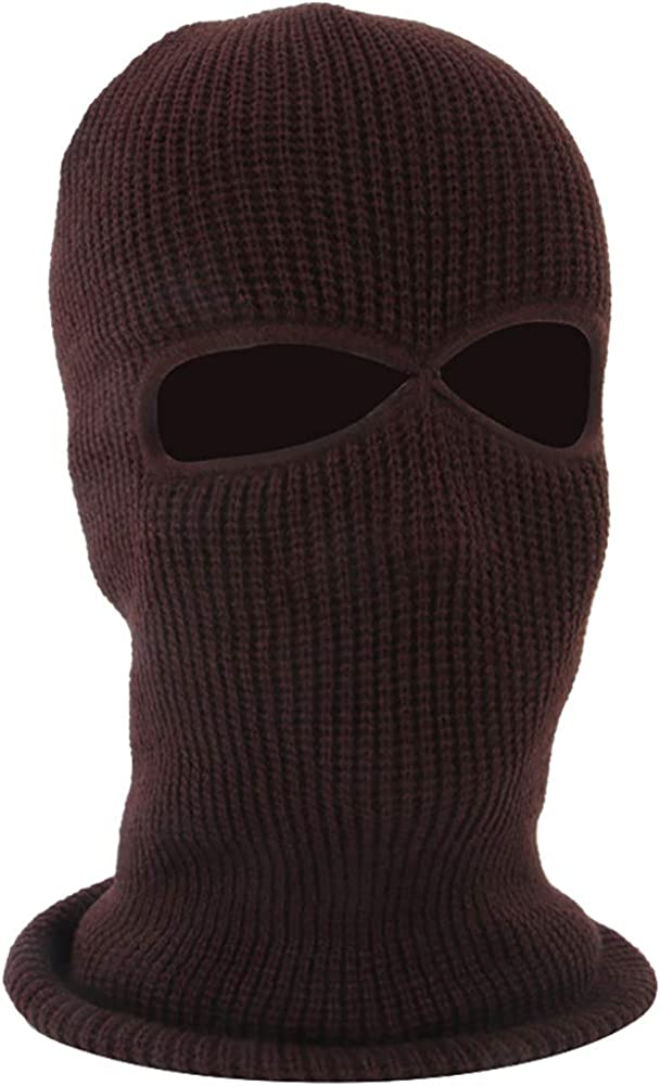 ChezAbbey Unisex Windproof Knitted Balaclava Breathable Motorcycle Full Face Mask for Skiing Cycling Running Outdoor Sports