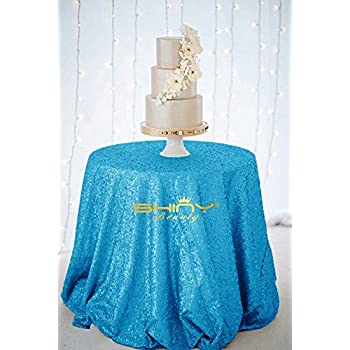 Amazon Com Turquoise Sequin Tablecloth Blue Sequin Glitz
