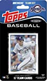 2014 Topps Milwaukee Brewers Factory Sealed Special Edition 17 Card Team Set with Ryan Braun Plus