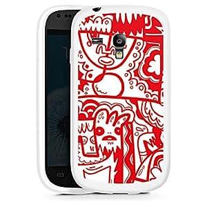 Silicona Carcasa blanco Funda para Samsung Galaxy S3 Mini - Red Chicken Print