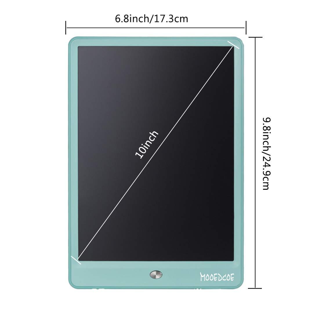 Mooedcoe LCD Tableta de Escritura 10 Pulgadas Pizarra Digital Electronica Niños Bloc de Notas (Azul)
