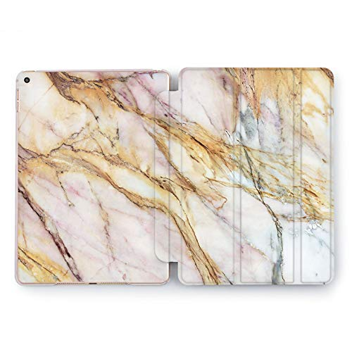 Wonder Wild Rusty Marble iPad Case 5th 6th Generation Mini 1 2 3 4 Air 2 Pro 10.5 12.9 2018 2017 9.7 inch Smart Stand Cover Abstract Design Original Pink Blue Grey Rose Gold White Hard Case Rock]()